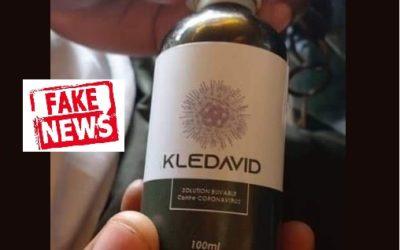 Faux, Kledavid n'est pas le nom de la solution de Mgr Samuel Kleda contre la Covid-19, mais MSK 1 et MSK 2