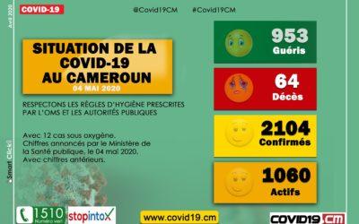 #Covid19 au #Cameroun : Le point de la situation ce 04 mai 2020 #Covid19CM #Covid19CMR