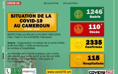 Point de la #Covid19 au #Cameroun ce 10 mai 2020 #Covid19CM #Covid19CMR