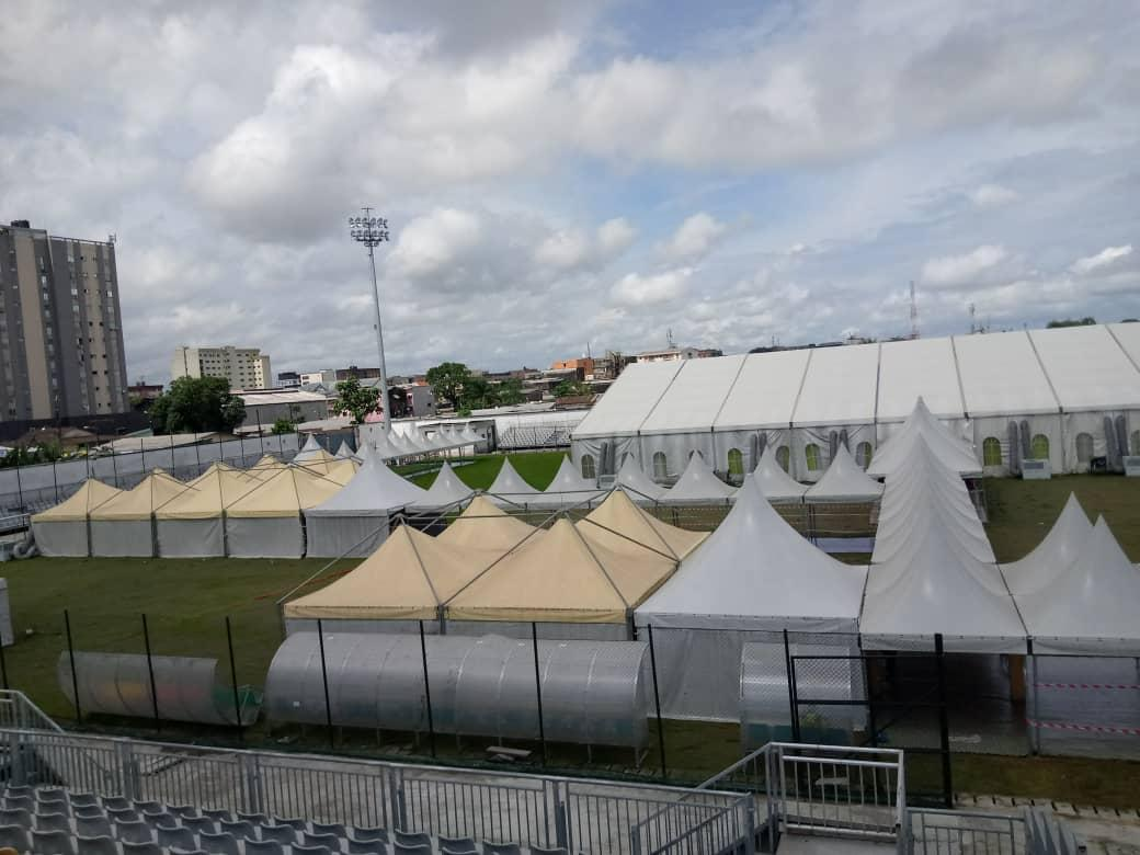 Covid Center Mbappe Leppe Stadium in Douala