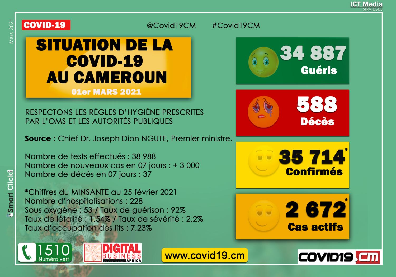 Point Covid au CMR au 010321 PM
